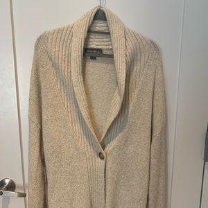Eddie Bauer Beige Knit One-Button Sleep Cardigan